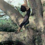 patron artist, yoga pose, handpaintedphotograph